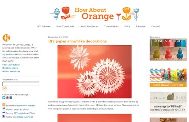 http://howaboutorange.blogspot.com/2011/12/diy-paper-snowflake-decorations.html