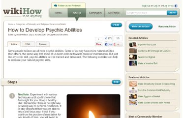 http://www.wikihow.com/Develop-Psychic-Abilities