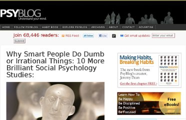 http://www.spring.org.uk/2010/01/10-more-brilliant-social-psychology-studies.php