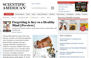 http://www.scientificamerican.com/article.cfm?id=trying-to-forget