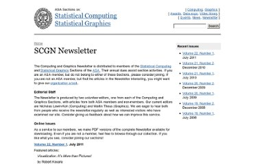 http://stat-computing.org/newsletter/