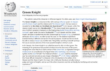 http://en.wikipedia.org/wiki/Green_Knight