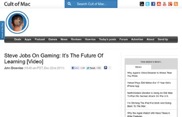 http://www.cultofmac.com/136734/steve-jobs-on-gaming-its-the-future-of-learning-video/