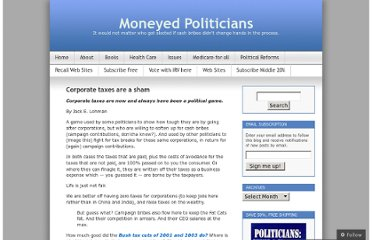 http://moneyedpoliticians.net/2011/06/13/corporate-taxes-are-a-sham/
