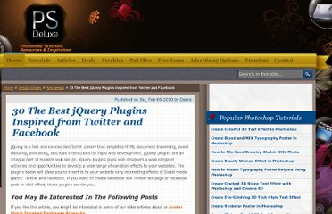 http://www.psdeluxe.com/articles/web-design/30-the-best-jquery-plugins-inspired-from-twitter-and-facebook.html