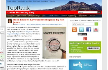 http://www.toprankblog.com/2011/12/book-review-keyword-intelligence/