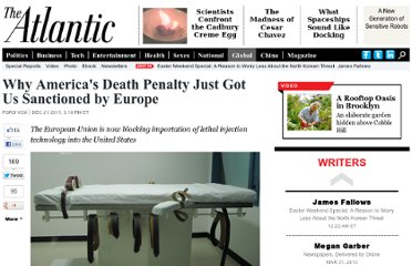 http://www.theatlantic.com/international/archive/2011/12/why-americas-death-penalty-just-got-us-sanctioned-by-europe/250324/