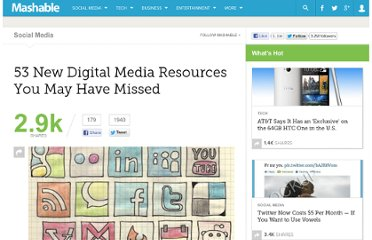 http://mashable.com/2011/12/24/digital-media-resources-you-may-have-missed/