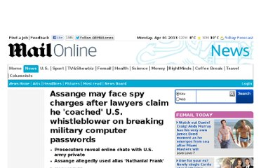 http://www.dailymail.co.uk/news/article-2078309/Assange-He-coached-U-S-army-whistleblower-claim-prosecutors.html