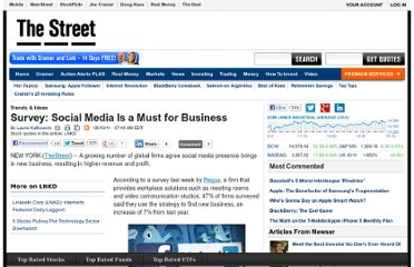 http://www.thestreet.com/story/11149978/1/survey-social-media-is-a-must-for-business.html