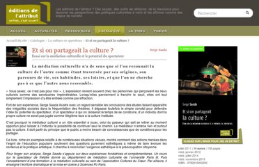 http://www.editions-attribut.fr/Et-si-on-partageait-la-culture,230