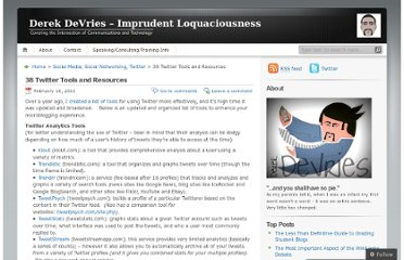 http://devriesblog.com/2011/02/16/38-twitter-tools-and-resources/