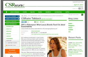 http://www.csrwire.com/blog/posts/250-2011-in-retrospect-what-luxury-brands-teach-us-about-sustainability