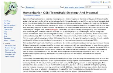 http://wiki.openstreetmap.org/wiki/Humanitarian_OSM_Team/Haiti_Strategy_And_Proposal
