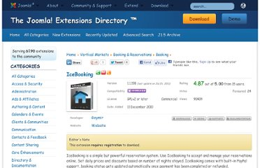 http://extensions.joomla.org/extensions/vertical-markets/booking-a-reservations/booking/14918