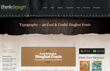 http://thinkdesignblog.com/typography-46-cool-useful-dingbat-fonts.htm