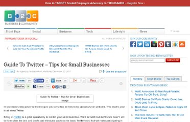 http://www.business2community.com/twitter/guide-to-twitter-tips-for-small-businesses-0110870