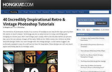 http://www.hongkiat.com/blog/40-incredibly-inspirational-retro-vintage-photoshop-tutorials/