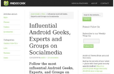 http://androgeek.com/influential-android-geeks-experts-and-groups-on-socialmedia/