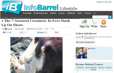 http://www.infobarrel.com/The_7_Grossest_Creatures_Ever_To_Wash_Up_On_Shore