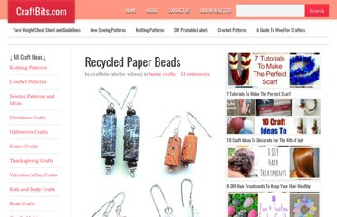 http://www.craftbits.com/project/recycled-paper-beads