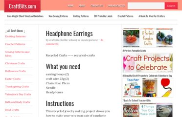 http://www.craftbits.com/project/headphone-earrings