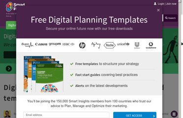 http://www.smartinsights.com/digital-marketing-strategy/digital-marketing-planning-template/