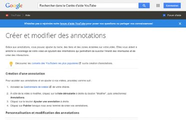 http://support.google.com/youtube/bin/answer.py?hl=fr&answer=92710