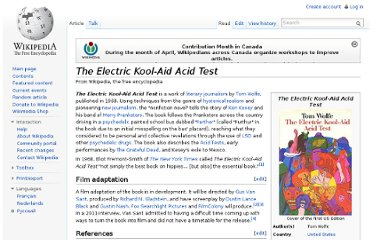 http://en.wikipedia.org/wiki/The_Electric_Kool-Aid_Acid_Test