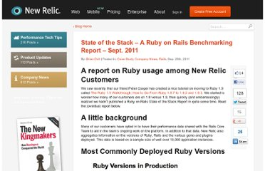 http://blog.newrelic.com/2011/09/28/state-of-the-stack-a-ruby-on-rails-benchmarking-report-sept-2011/