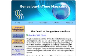 http://www.genealogyintime.com/NewsStories/2011/Q2/the_death_of_Google_News_Archive.html