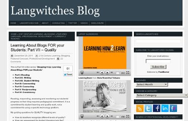 http://langwitches.org/blog/2011/12/25/learning-about-blogs-for-your-students-part-vii-quality/