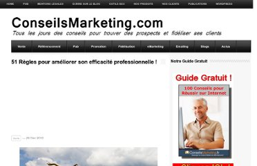 http://www.conseilsmarketing.com/communication/51-regles-pour-ameliorer-son-efficacite-professionnelle