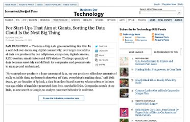 http://www.nytimes.com/2011/12/26/technology/for-start-ups-sorting-the-data-cloud-is-the-next-big-thing.html