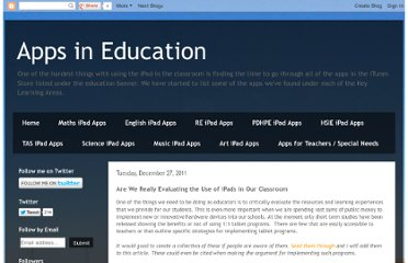 http://appsineducation.blogspot.com/2011/12/are-we-really-evaluating-use-of-ipads.html
