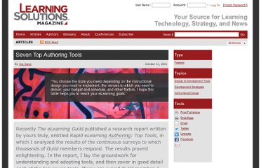 http://www.learningsolutionsmag.com/articles/768/seven-top-authoring-tools#.TsYhj_d5-cs.twitter