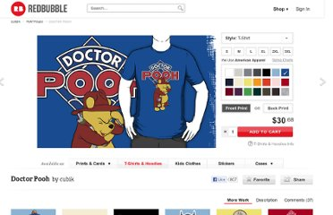 http://www.redbubble.com/people/cubik/works/6843314-doctor-pooh?p=t-shirt