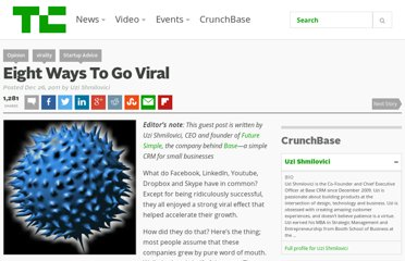 http://techcrunch.com/2011/12/26/eight-ways-go-viral/