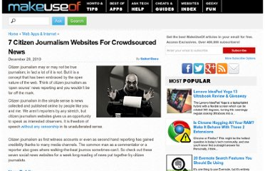 http://www.makeuseof.com/tag/7-citizen-journalism-websites-crowd-sourced-news/
