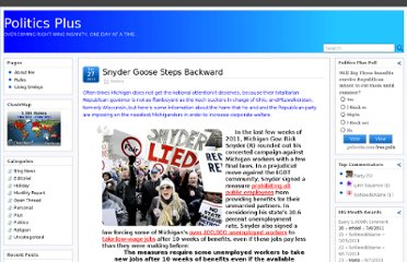 http://www.politicsplus.org/blog/2011/12/27/snyder-goose-steps-backward/