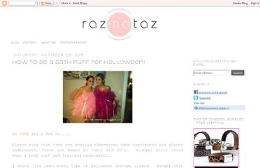 http://razmatazblog.blogspot.com/2011/10/how-to-be-bath-puff-for-halloween.html