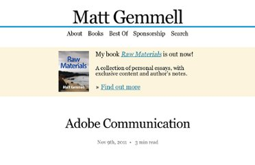 http://mattgemmell.com/2011/11/09/adobe-communication