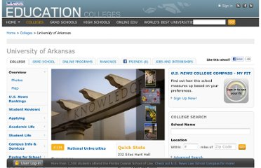 http://colleges.usnews.rankingsandreviews.com/best-colleges/university-of-arkansas-1108
