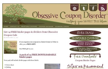 http://www.obsessivecoupondisorder.com/2011/05/get-14-free-binder-pages-dividers-from-obsessive-coupon-gals/