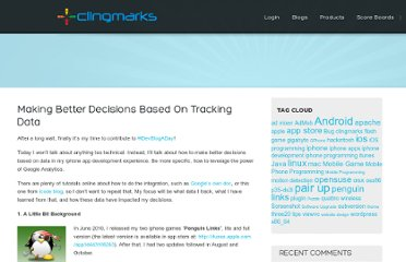 http://www.clingmarks.com/making-better-decisions-based-on-tracking-data/473