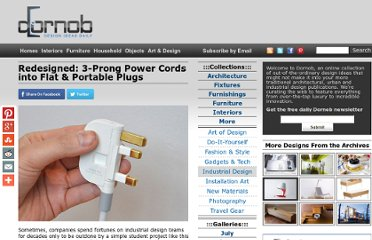 http://dornob.com/redesigned-3-prong-power-cords-into-flat-portable-plugs/