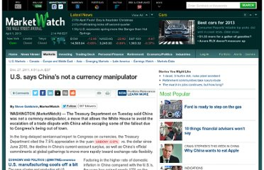 http://www.marketwatch.com/story/us-says-china-not-a-currency-manipulator-2011-12-27
