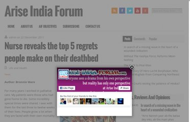 http://www.ariseindiaforum.org/nurse-reveals-the-top-5-regrets-people-make-on-their-deathbed/