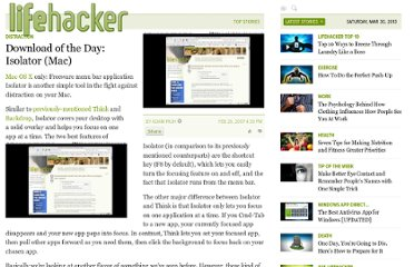 http://lifehacker.com/239746/download-of-the-day-isolator-mac