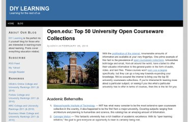 http://onlineuniversityrankings2010.com/2010/open-edu-top-50-university-open-courseware-collections/